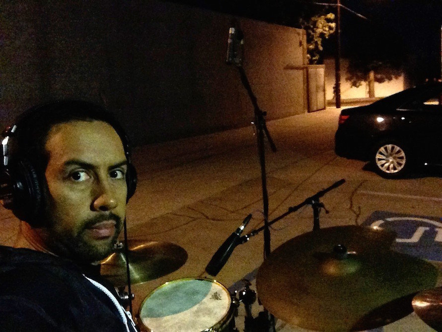 Antonio Sanchez_drum outdoors